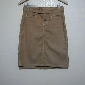 Guess Jeans  Tan Jean Midi Skirt